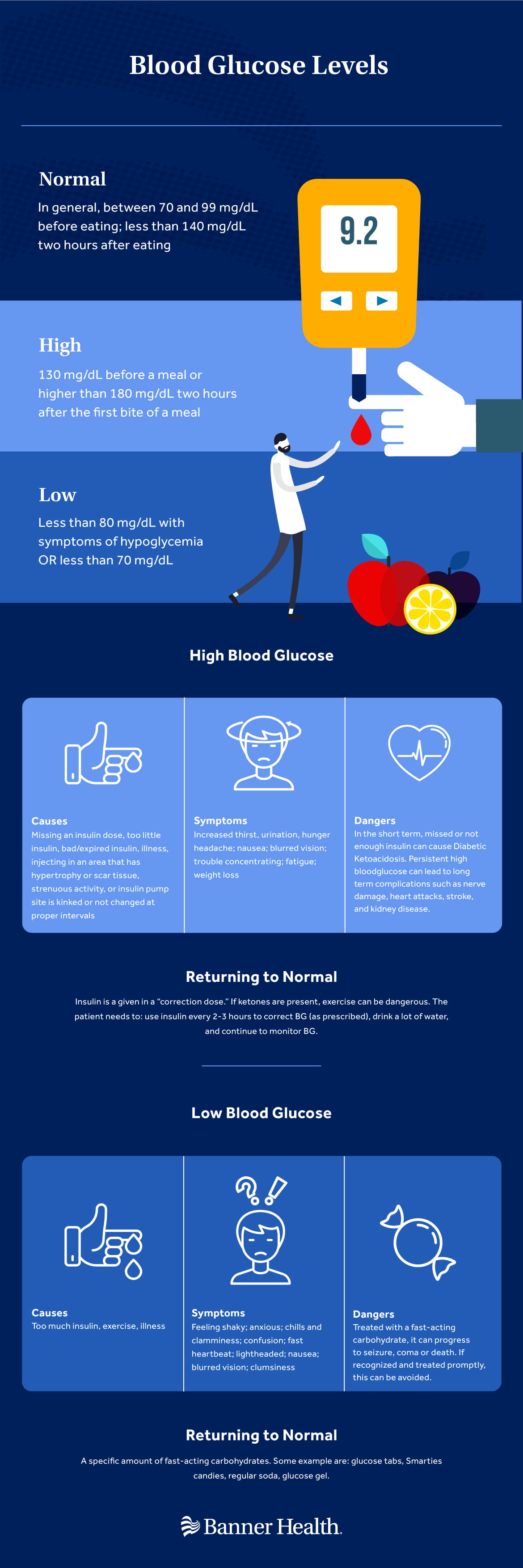 Blood Glucose Levels Infographic