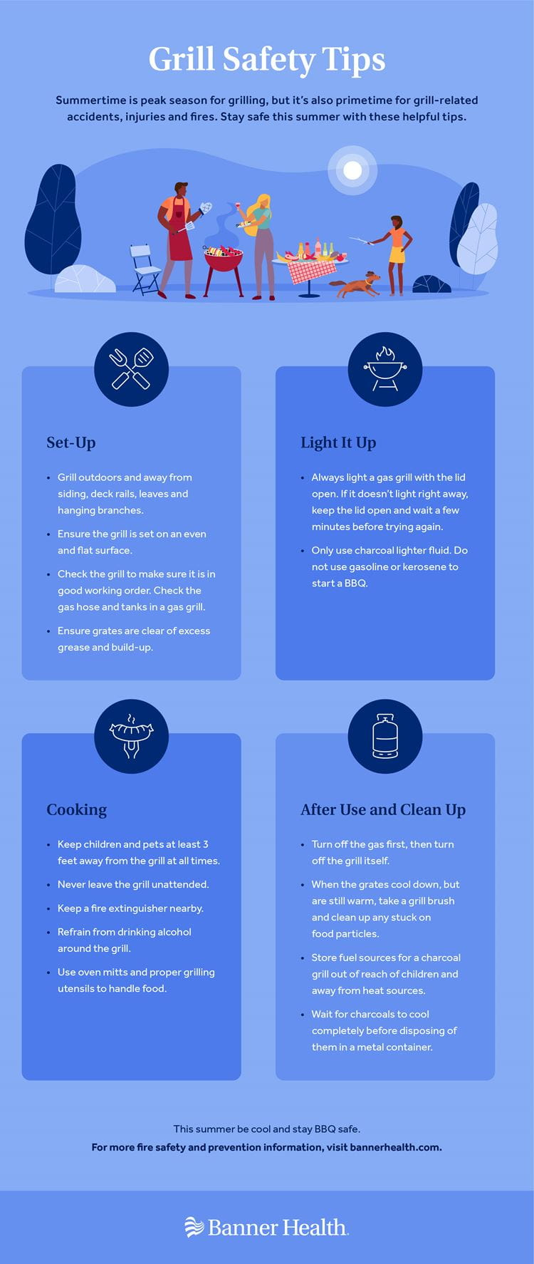 Grill Safety Tips Infographic
