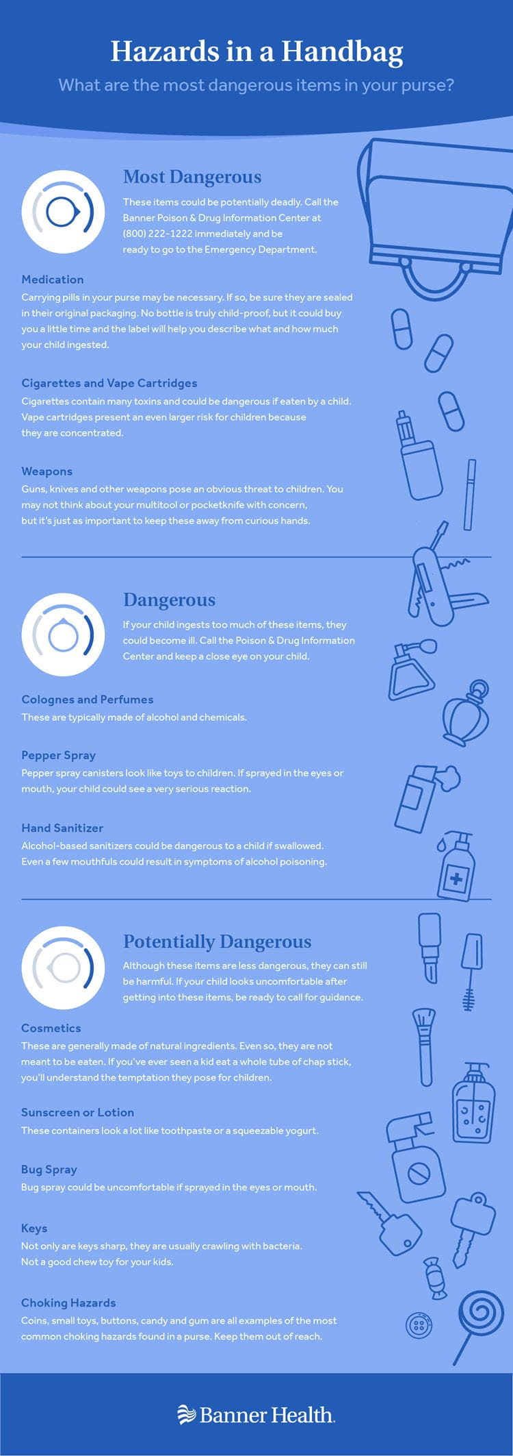 Hazards in a Handbag Infographic